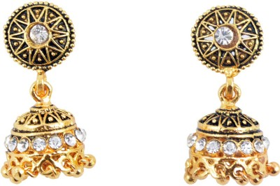 Diovanni Bole Chudiya Bole Kangana Brone Golden Metal Jhumki Earring