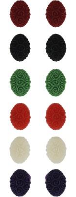 FreshMe Fashion Jewellery Coral Alloy Earring Set