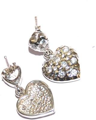 Arvino Filigree Love Zircon Sterling Silver Stud Earring