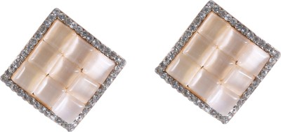 Kashvi gitanjali Agate Brass Stud Earring