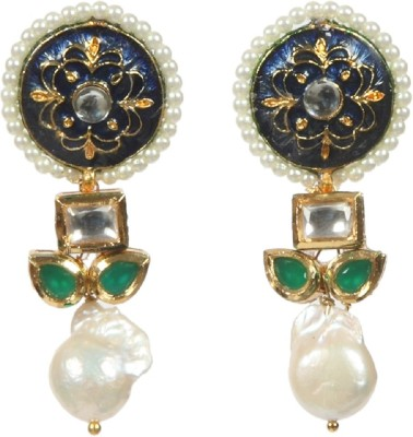Envy Shinning Pearl Brass Drop Earring
