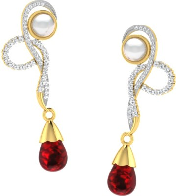 His & Her His & Her Diamond, Ruby Silver Stud Earring