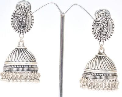 Cindrella S Arte E Manifattura German Silver Metal Jhumki Earring