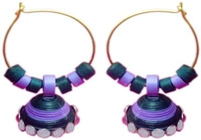 Vaishali's Quilling Jewellery Mutlicolour Paper Jhumki Earring