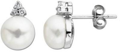 Tathastu Signity Pearl Sterling Silver Stud Earring