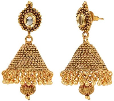 Bling N Beads Golden Designer Copper Jhumki Earring