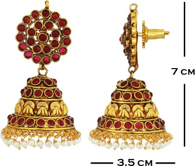 SthriElite Fancy Collections Alloy Jhumki Earring