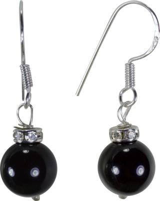 Pearl Paradise Black Beauty Pearl Silver Dangle Earring