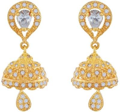 Jewlot Nice Looking AD 2023 Brass Drop Earring