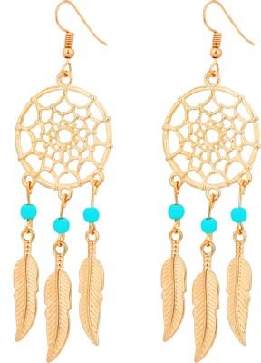 Access-o-risingg Gold Dream Catcher Earrings Alloy Stud Earring