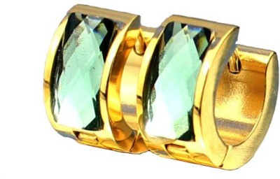 Ruvee Aqua Green Emerald Stainless Steel Stud Earring