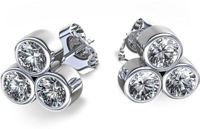 Joyra Fascinating Swarovski Zirconia Sterling Silver Stud Earring