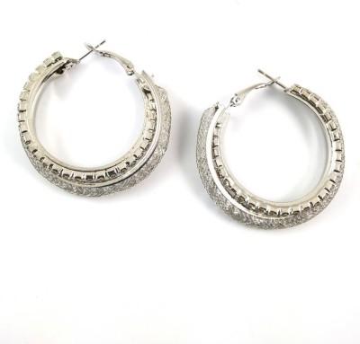 Ammvi Ammvi Creations Silver Hoop/Baali Earring for Women Alloy Huggie Earring