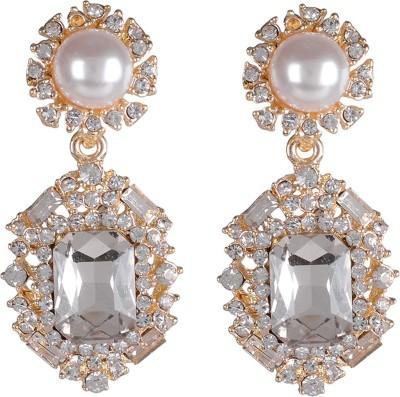 Shining Jewel Autumn Bling Crystal Brass Drop Earring