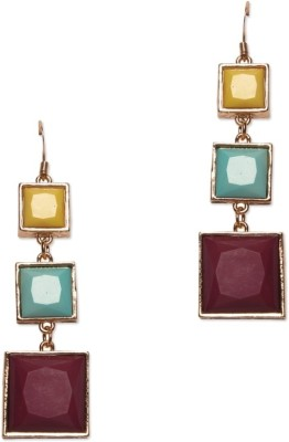 Circuzz Mulicolor cube linked earrings Alloy Dangle Earring