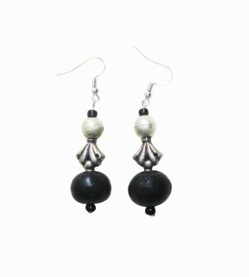 Juhi Malhotra Black beauty Wood Dangle Earring