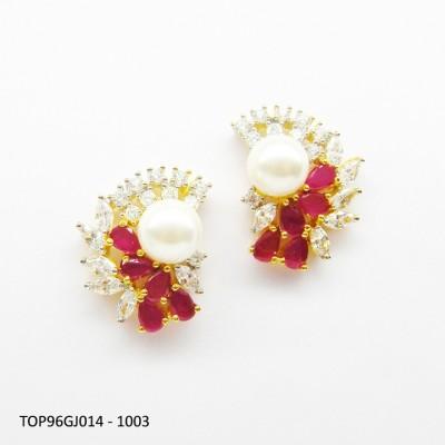 E-Designs TOP96GJ014 - 1003 Cubic Zirconia Alloy Stud Earring