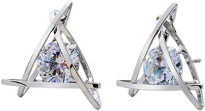 Ruvee Khufu Pyramid Zircon Alloy Stud Earring