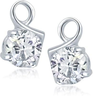 Meenaz Floral Earrings For Girls and Women Cubic Zirconia, Crystal Alloy Hoop Earring