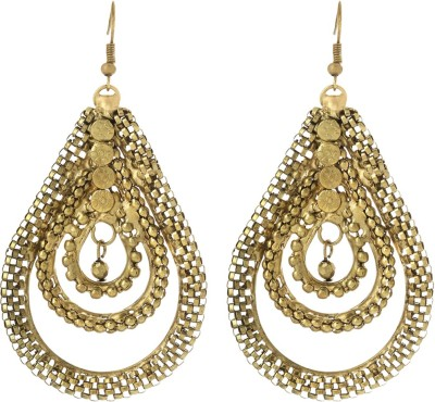 Prita Classic Gold Tone Alloy Dangle Earring