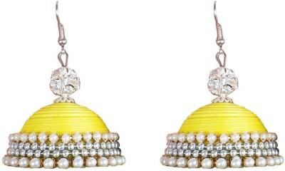 Jyotis Creations Yellow Alloy Jhumki Earring