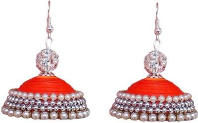 Jyotis Creations Orange & Gold Paper Jhumki Earring