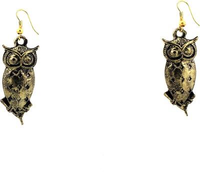 zidox Antique Owls Metal Dangle Earring