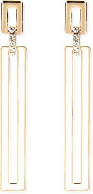 Aimez Chevron Whitish Bar Metal Drop Earring