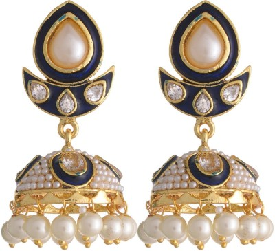 Neckies JER Yellow Gold Jhumki Earring