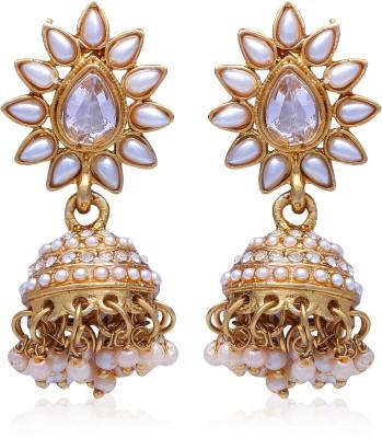 Kraft Central Gold Festive Jhumki Pearl Alloy Jhumki Earring