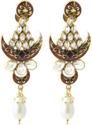 Aaina Home Decor Anvi Cubic Zirconia Copper Drop Earring