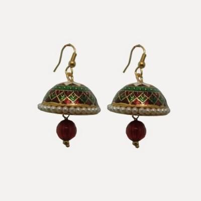 Indianpasand Rajastani designed with Merron Bead Alloy Dangle Earring