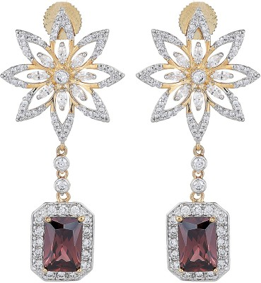 JC Two Tone Gold Rhodium Electro Plated (Rhodalite) Metal Chandelier Earring