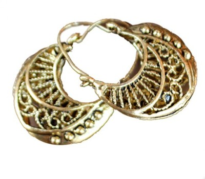 Aza Collections Dazzling Alloy Hoop Earring