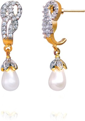 Fashion Fusion ES010006A Aalekhya Cubic Zirconia Brass, Alloy Drop Earring