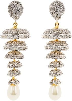 Jwells & More Stylish Appeal Silver Jhumki Earring