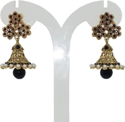 Anjan Lovely Traditional Designer Cubic Zirconia Brass Jhumki Earring