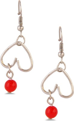 Exquisite Collection Red02 Brass Drop Earring