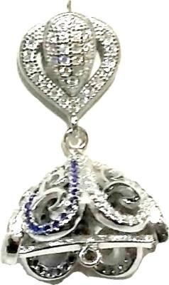 Vummidi Bangaru Chetty & Sons Dazzling Jhumkas Sterling Silver Jhumki Earring