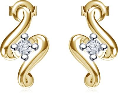 Kirati Fancy Stud Cubic Zirconia Sterling Silver Stud Earring