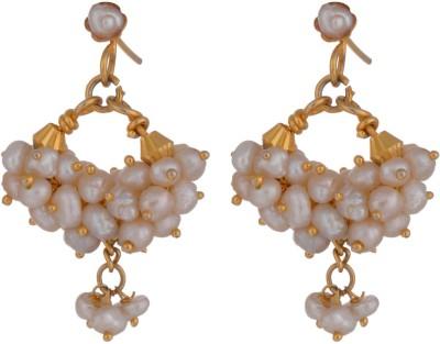 Chandrika Pearls Beautiful Pearl Alloy Chandbali Earring