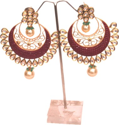 touch india Bollywood style Brass Chandbali Earring