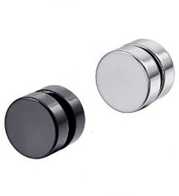 Vaishnavi First Quality One Pair Never Rusts Original Non-Pierced Stainless Steel Magnetic Earring