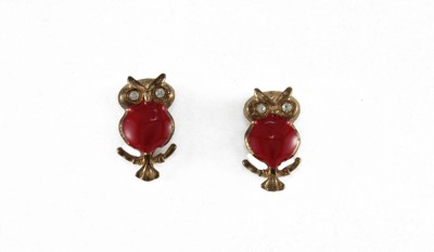 Crimson21 Owl Zircon Alloy Stud Earring