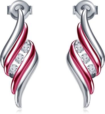Kirati Enamel Jewelley Cubic Zirconia Sterling Silver Drop Earring