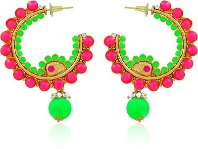 BoBell Bo,Bell Metal Dangle & Drop Earring For Women (Pink) Copper Hoop Earring