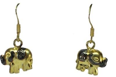 GnJ Elephants Sterling Silver Dangle Earring