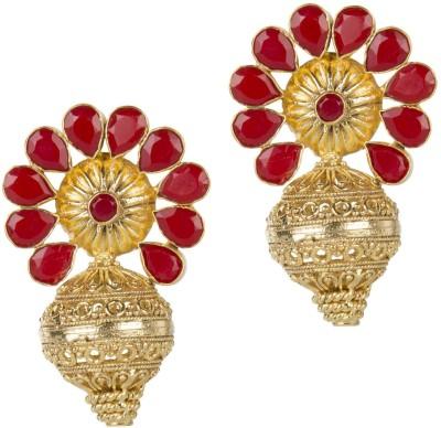Mehtaphor Tulika_4 Crystal Brass Stud Earring