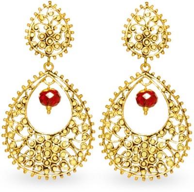 Big Tree Indian Charm Brass Drop Earring