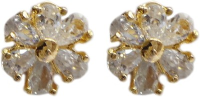 Charvee Flower Shape Alloy Stud Earring